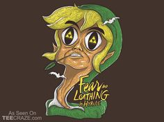 Fear And Loathing In Hyrule T-Shirt - http://teecraze.com/fear-and-loathing-in-hyrule-t-shirt/ -  Designed by Andriu    #tshirt #tee #art #fashion #clothing #apparel