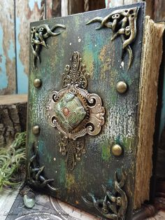 the Grace of Ithilien - Mixed Media Blank Journal- replica custom witches Book of Shadows Altered Books, Altered Art, Wicca, Magic Book, Journal Covers, Blank Journal, Handmade Books, Dark Ages, Book Of Shadows