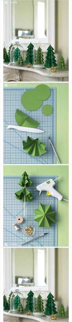 DIY,CRAFTS,paper tree,decorations