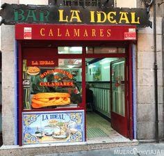 Coffee Places, Street Photo, Store Fronts, Tapas, Spain, Restaurant Ideas, Travel, Churros, Nostalgia