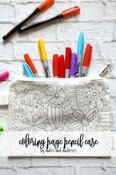 coloring page pencil