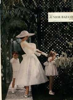 Vintage 1950s Wedding Editorial from Harper's Bazaar Magazine, April 1957