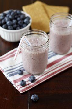Dessert for Breakast: Blueberry Cobbler Smoothies