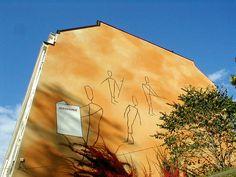 A mural advertisement of a Finnish tabloid newspaper Extinct, Helsinki, Newspaper, Destinations, Advertising, Photos, Pictures, Journaling File System, Travel Destinations