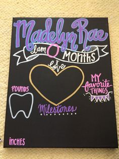 CHALKBOARD:Baby month to month by TheLilBugShop on Etsy