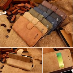 Cowhide Real Leather Flip Stand Wallet Case Cover For Apple iPhone 5 5s 6 6 Plus in Cases, Covers & Skins   eBay