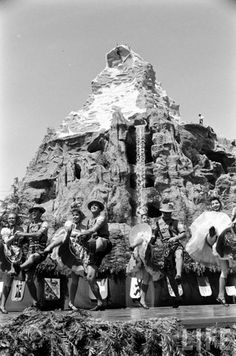 Grand opening ceremonies of the Matterhorn, 1959.