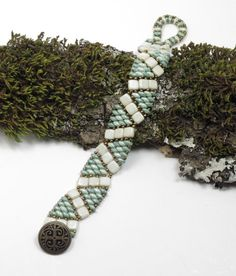 SUPER DUO CZECHMATE Tile Bracelet  Tile por CinfulBeadCreations