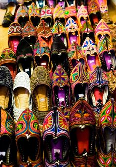 Afghan hand made kuchi shoes