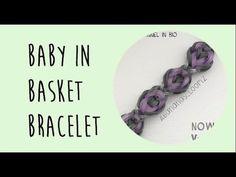 This is a hooked design. No loom needed.  *Zuzu*   Abananas Loomz - Baby In Basket Bracelet
