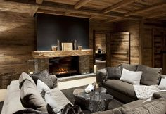 Situated in the Austrian mountain village of Oberlech, Chalet N is unquestionably one of the most impressive ski chalets around. The chalet. Chalet Chic, Chalet Style, Ski Chalet Decor, Chalet Design, House Design, Chalet Interior, Interior Design, Fireplace Design, Wooden Fireplace