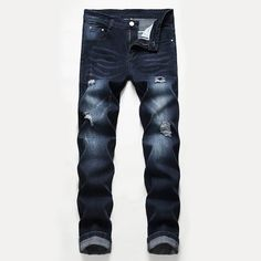 Ripped Jeans Style, Ripped Jeans Men, Casual Jeans, Men's Jeans, High Fashion Men, Jeans Fabric, Best Jeans, Fashion Pants, Men's Fashion