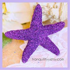 glitter starfish hair clip cosmic purple glitter starfish lg 3