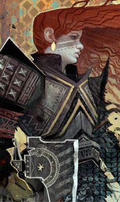 'Three Of Coins' 'Dragon Age Inquisition' Tarot Card Print