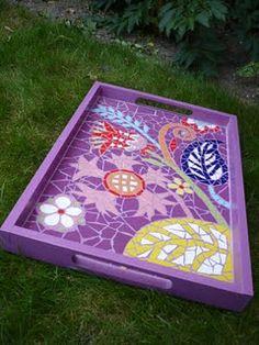 Mosaic tray.