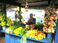 Fresh produce in the markets of Santarem, Brazil