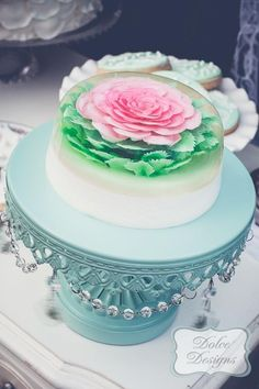 (Disclaimer: this is not cake.)  On a side note I think this fancy jello is beautiful enough to put on my cake board.