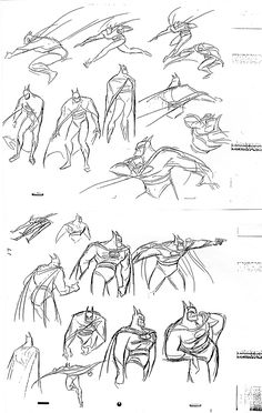 Image 20820: batman bruce_timm bw cape cowl dc how-to-draw sketch