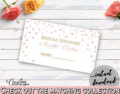 Raffle Ticket Bridal Shower Raffle Ticket Pink And Gold Bridal Shower Raffle Ticket Bridal Shower Pink And Gold Raffle Ticket Pink XZCNH - Digital Product bridal shower wedding bride to be bridesmaids