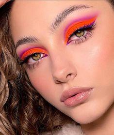 Bold Makeup Looks, Bold Eye Makeup, Pastel Makeup, Creative Makeup Looks, Colorful Eye Makeup, Eye Makeup Art, Pretty Makeup, Glowy Makeup, Classic Eye Makeup