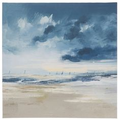 Get Coastal Canvas Wall Decor online or find other Wall Art products from HobbyLobby.com Wall Decor Online, Canvas Wall Decor, Office Art, Hobby Lobby, Coastal, Clouds, Water, Painting, Outdoor