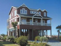 Holden Beach, NC - All That Jazz 1331 a 5 Bedroom Oceanfront Rental House in Holden Beach, part of the Brunswick Beaches of North Carolina. Includes Private Pool, Hi-Speed Internet