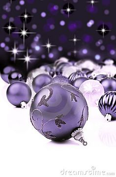 Purple Decorative Christmas Ornaments Royalty Free Stock Images - Image: 21462339