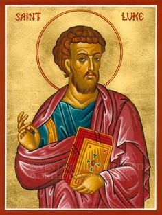 St. Luke, Patron Saint of glass workers, artists, and butchers.  Also, brewers.