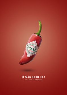 Creativity in advertising spicy tabasco sauces Advertise . - Creativity in advertising spicy tabasco sauces Beautiful and creative advertising by the Tabasco brand for its spicy sauces. 14 beautiful images and propaganda of spicy tabasco sauce. Creative Poster Design, Ads Creative, Creative Posters, Creative Advertising, Advertising Poster, Graphic Design Posters, Advertising Campaign, Advertising Design, Graphic Design Inspiration
