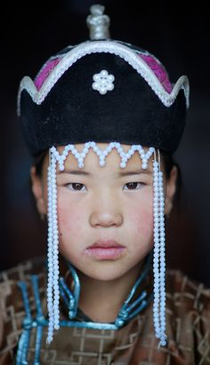 Mongolian boy at festival