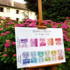 Tableau de mariage con tema colori stampato su tela!