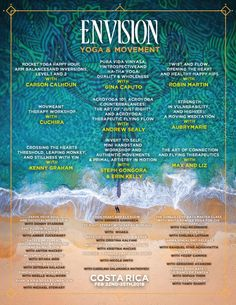 Yoga & Movement lineup is released for #envisionfestival! Check it out and see the wonderful workshops being offered :) #envisionfestival #vivelaexperiencia