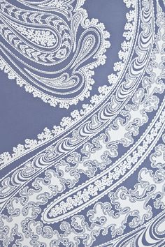 Rajapur Paisley Wallpaper Large design Paisley print wallpaper in Navy Blue with white design.