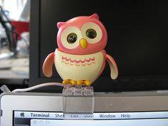 Pink USB Owl