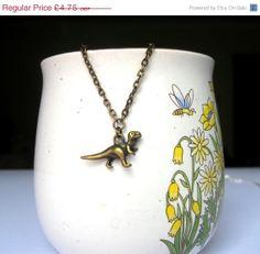 JANUARY SALE Dinosaur necklace  TRex necklace  by DoodlepopDesigns, £3.33