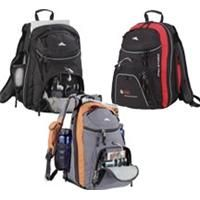 High Sierra Jack Knife Pack    • Large main compartment • Easy access, top-load center compartment • Front pocket organizer with removable key fob • Side zip water bottle pocket • CD player pocket with molded headphone port Price includes one color, one location.    Product code: 8050-94  Qty:12-4950-99100-149150-199200+  ea.$59.02$56.62$49.29$43.18