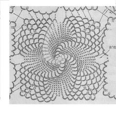 Crochet Edging Patterns, Doily Patterns, Crochet Squares, Crochet Motif, Crochet Designs, Crochet Lace, Crochet Dollies, Crochet Flowers, Pineapple Crochet