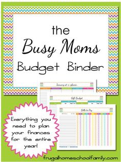 The New Year is almost here! If one of your New Years resolutions is to keep a better budget, check out this FREE Busy Moms budget binder printable.