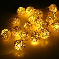 Home & Garden Knowledgeable 20 Rattan Ball Led String Fairy Lights Christmas Tree Ornaments Xmas Decoration Warm White Led Lights Home Garden Decor New Varieties Are Introduced One After Another Festive & Party Supplies