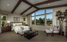The luxurious master suite is the ultimate spa-like retreat with a generous walk-in closet, oversized shower with built-in seat and separate vanities. - Residence One at Hidden Crossing in Roseville, CA