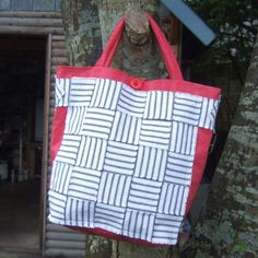 Items similar to Red cotton damask, white and black ticking multipurpose handbag on Etsy Ticks, Damask, Diaper Bag, Reusable Tote Bags, Trending Outfits, Unique Jewelry, Handmade Gifts, Red, Cotton