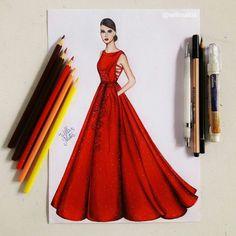 Ideas For Fashion Sketches Dresses Illustrations Beautiful Dress Design Drawing, Dress Design Sketches, Fashion Design Sketchbook, Fashion Design Drawings, Dress Drawing, Fashion Sketches, Fashion Drawing Dresses, Fashion Illustration Dresses, Fashion Illustrations
