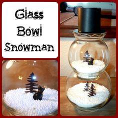 Learn how to make a #Christmas Glass Bowl Snowman #Craft! Fun & easy to do! http://www.tigerstrypes.com/glass-bowl-snowman/ via @satrntgr