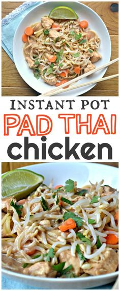 Instant Pot Pad Thai Chicken – Make the Best of Everything Thai Cooking, Cooking Recipes, Healthy Recipes, Cooking Broccoli, Cooking Lamb, Healthy Breakfasts, Healthy Snacks, Instant Pot Pressure Cooker, Pressure Cooker Recipes
