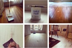 An Easy Way to Whitewash Your Hardwood Floors with Chalk Paint® decorative paint by Annie Sloan | Via Lonny