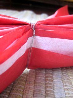 DIY tissue pom pom tutorial via WithyWindle blog