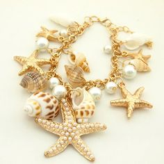 Nautical Charmed Bracelet For Women