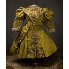 Antique RARE French Original Dress for Jumeau, Bru, Steiner Bebe Doll... ❤ liked on Polyvore
