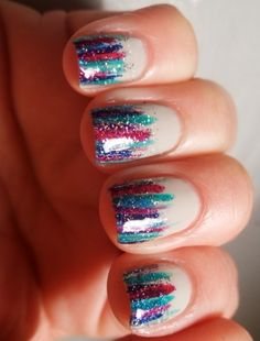 love these colorful, sparkly tips!
