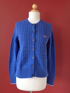 BROOKS BROTHERS Pink Silk Cashmere Cable Knit Cardigan Sweater ...